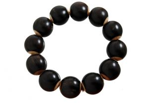 Ebony hand mala inlay boder18mm