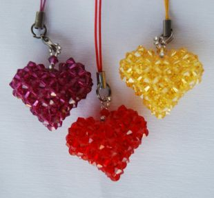 Crystal Heart Charm (L)