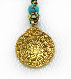 Protection Mandala brass(mini jewelry)